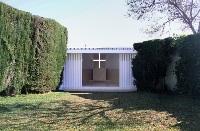 Exterior de la capilla
