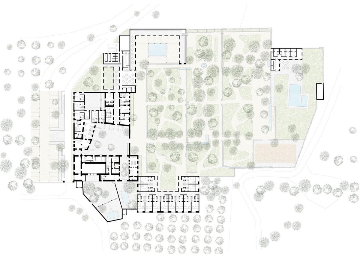 Hotel in Ronda general plan