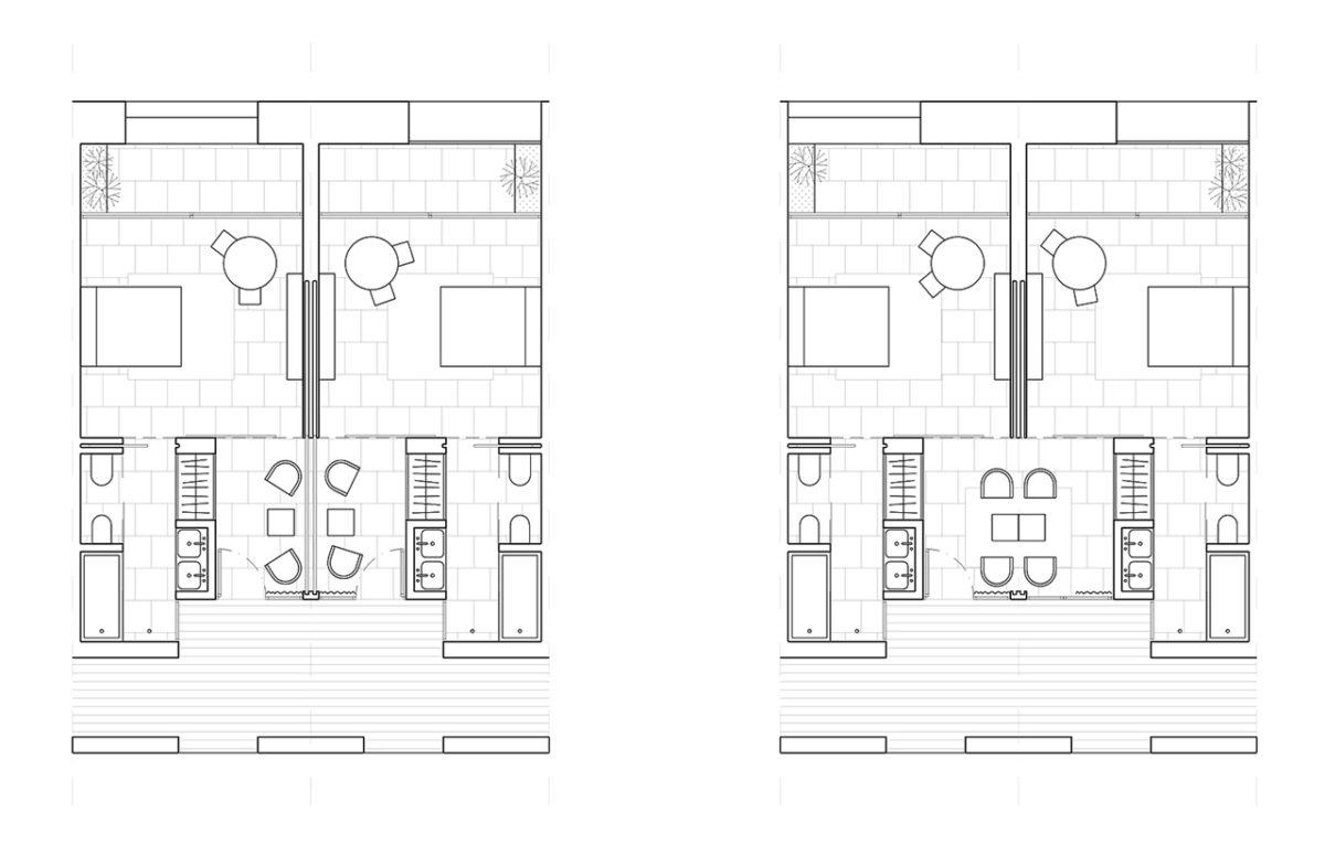 Hotel in Ronda versatile room plan