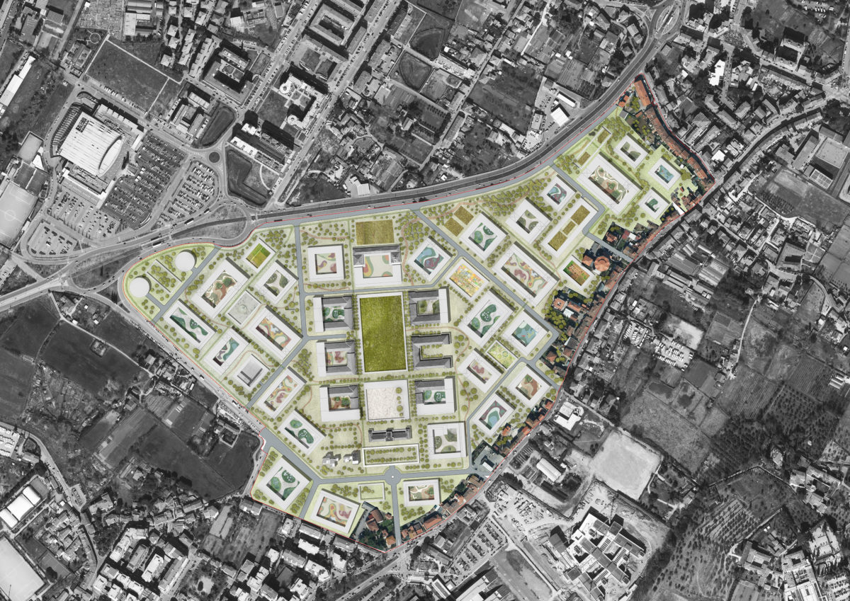Master plan general plan with different courtyards and landscapes