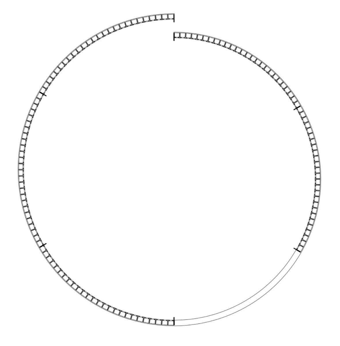 Round plan of park nest