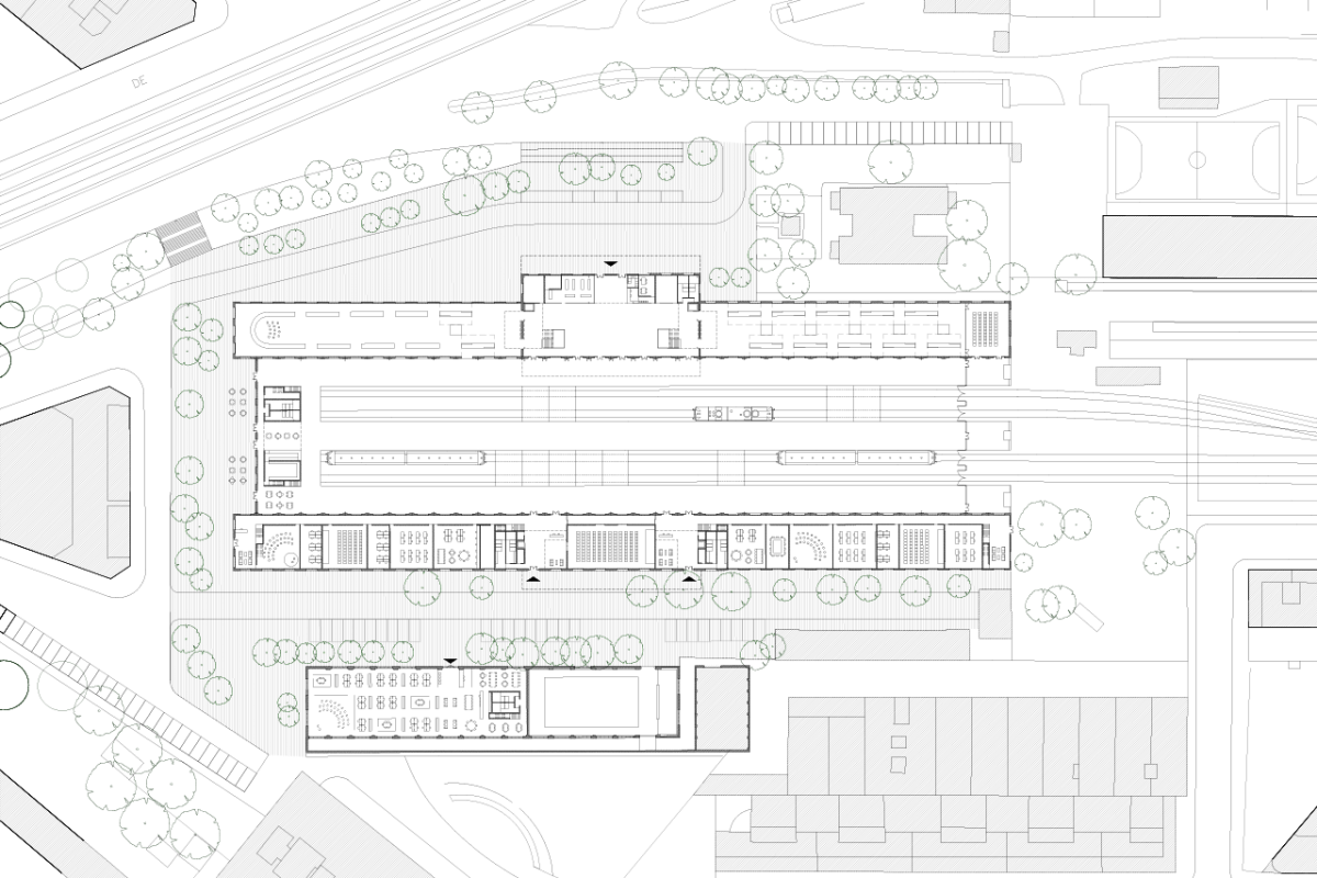 Delicias Station ground floor plan