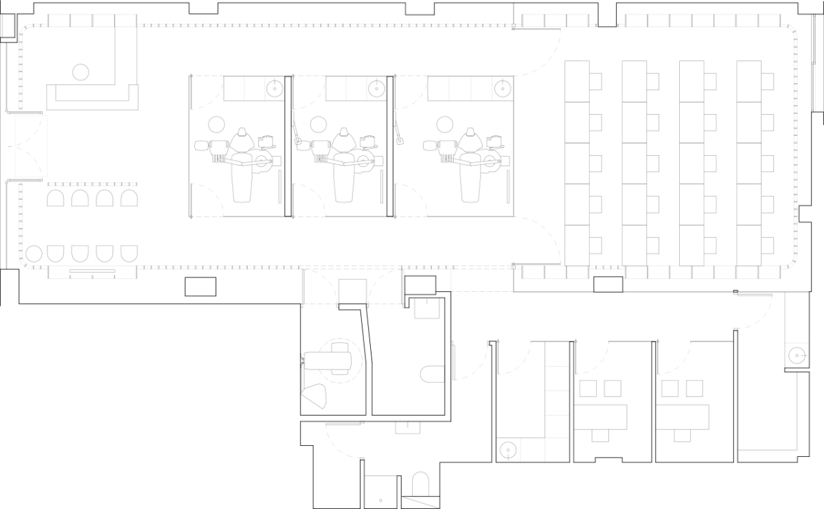 Floor plan of the clinic