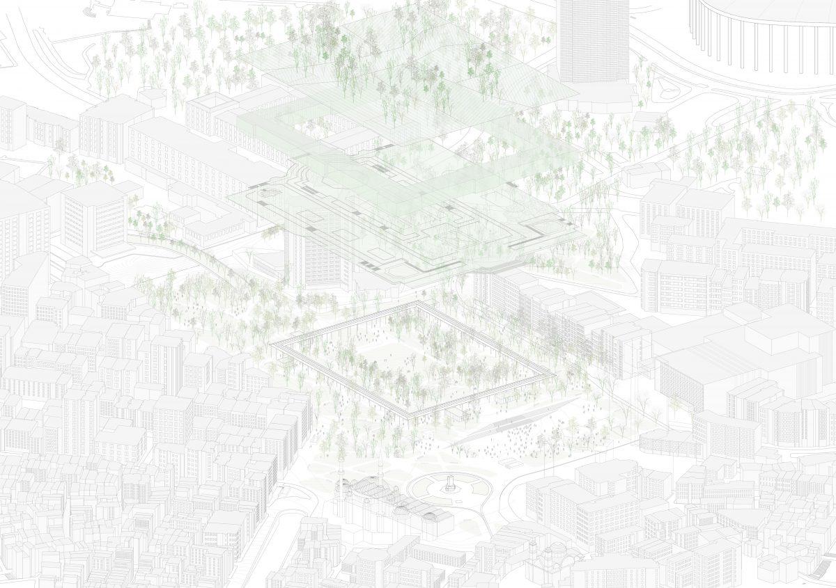 Taksim Square axonometric view