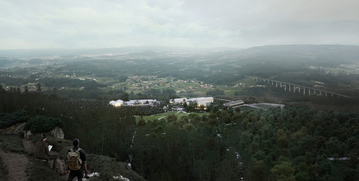 Pazo de Quián aerial view