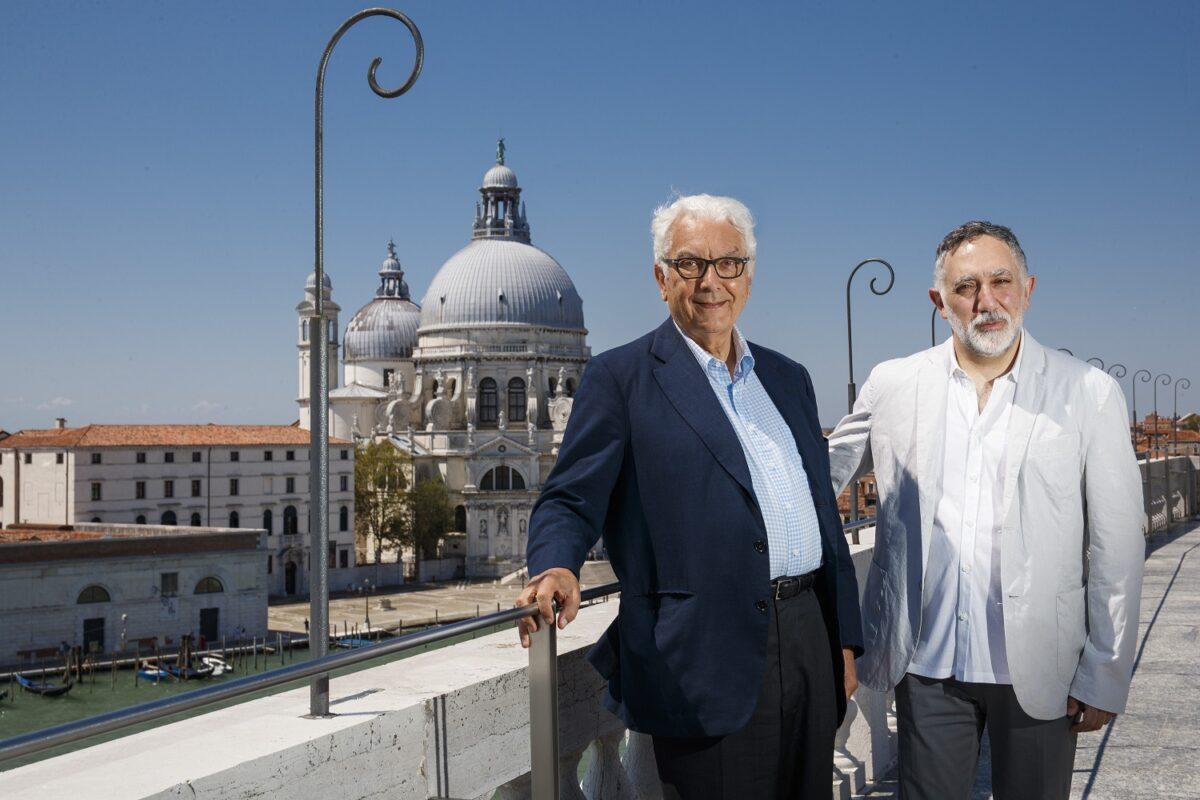 Photo of curator Hashim Sarkis in Venice