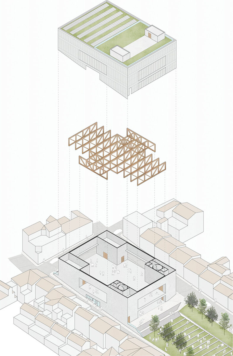 Axonometric view of the Torreperogil Theater