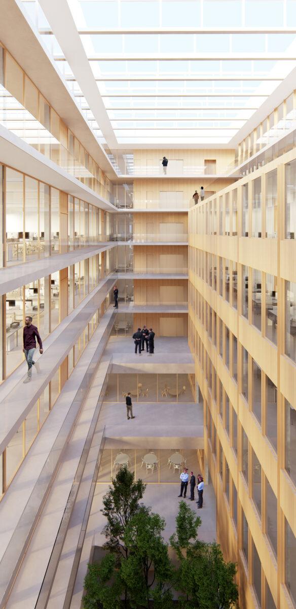 Mossos d'Esquadra Headquarters central courtyard