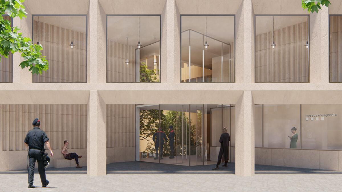 Mossos d'Esquadra Headquarters main entrance